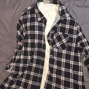 Women's fleece laced flannel